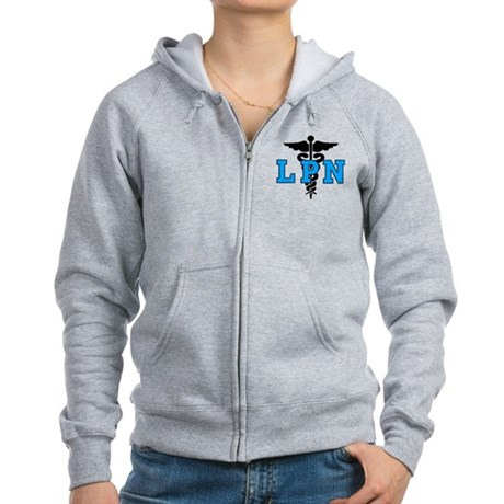 LPN Medical Symbol Women's Zip Hoodie
