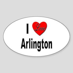 I Love Arlington Oval Sticker
