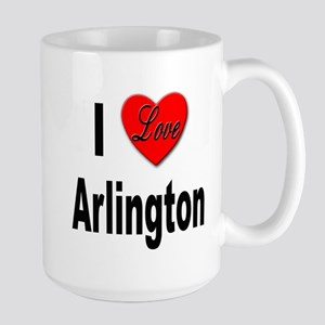 I Love Arlington Large Mug