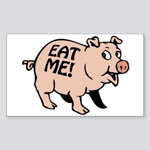 Pinky the BBQ Pig * Rectangle Sticker