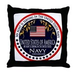 Navy Aunt Throw Pillow