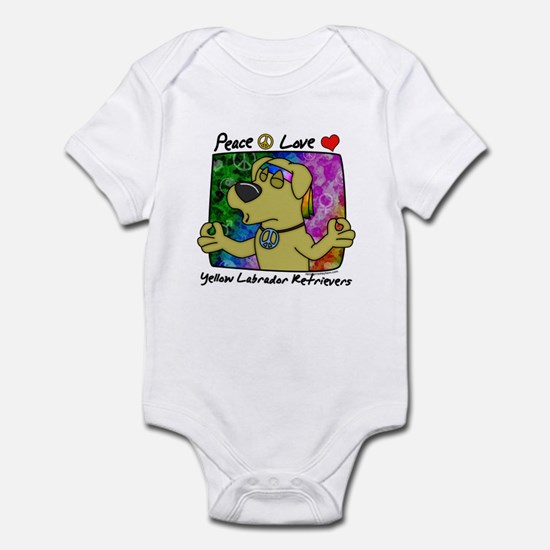 Hippie Yellow Lab Infant Bodysuit