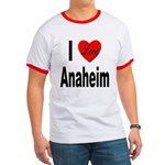 I Love Anaheim California Ringer T