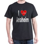 I Love Anaheim California (Front) Dark T-Shirt