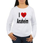 I Love Anaheim California (Front) Women's Long Sle