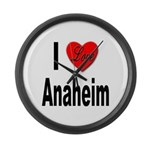 I Love Anaheim California Large Wall Clock