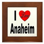 I Love Anaheim California Framed Tile