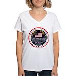 Navy Boyfriend Women's V-Neck T-Shirt