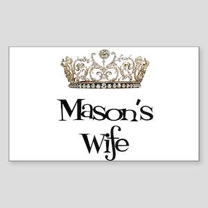 Mason's Wife Rectangle Sticker
