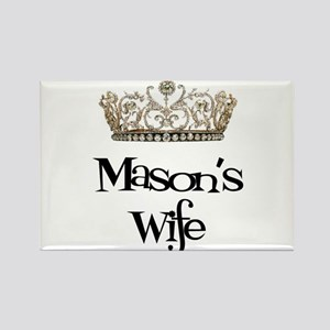 Mason's Wife Rectangle Magnet