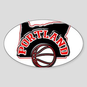 Portland Basketball Oval Sticker