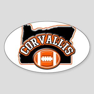 Corvallis Football Oval Sticker