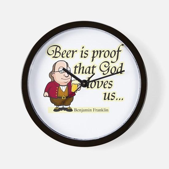 Beer is Proof - Wall Clock