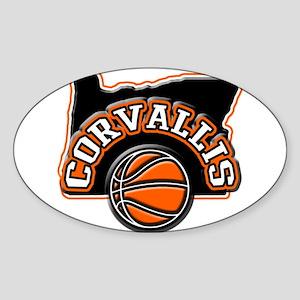 Corvallis Basketball Oval Sticker