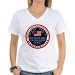 Navy Fiance Women's V-Neck T-Shirt