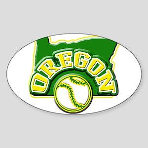 Oregon Baseball Oval Sticker