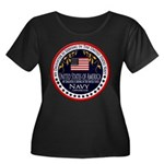 Navy Daughter Women's Plus Size Scoop Neck Dark T-