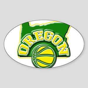 Oregon Basketball Oval Sticker