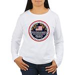 Navy Dad Women's Long Sleeve T-Shirt