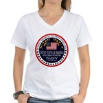 Navy Dad Women's V-Neck T-Shirt
