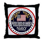 Navy Cousin Throw Pillow