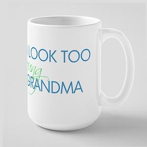 Too Young to be a Grandma Large Mug