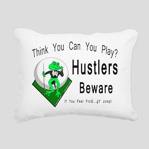 OTC Billiards Frog Rectangular Canvas Pillow