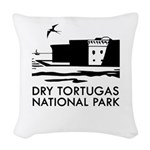 Dry Tortugas National Park Woven Throw Pillow