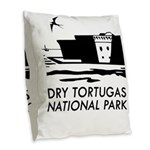 Dry Tortugas National Park Burlap Throw Pillow