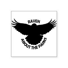 Raven About The Parks logo Sticker