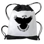Raven About The Parks logo Drawstring Bag