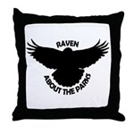Raven About The Parks logo Throw Pillow