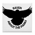 Raven About The Parks logo Tile Coaster