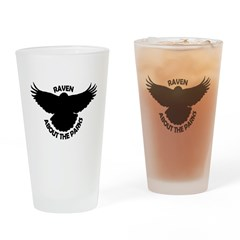 Raven About The Parks logo Drinking Glass