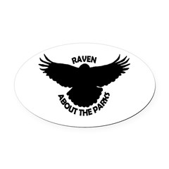 Raven About The Parks logo Oval Car Magnet