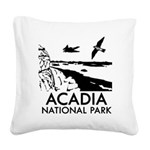 Acadia National Park Square Canvas Pillow
