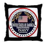Navy Veteran Throw Pillow