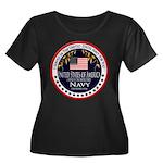 Navy Veteran Women's Plus Size Scoop Neck Dark T-S