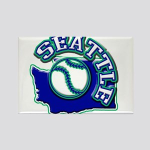 Seattle Baseball Rectangle Magnet