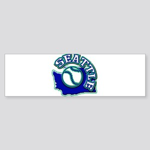 Seattle Baseball Bumper Sticker