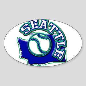 Seattle Baseball Oval Sticker