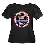 Navy Active Duty Women's Plus Size Scoop Neck Dark