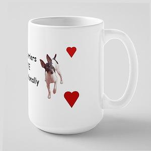 Rat Terrier Large Mug Mugs
