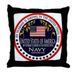 Navy Husband Throw Pillow