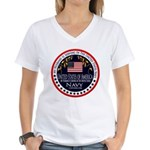 Navy Husband Women's V-Neck T-Shirt
