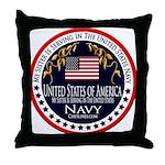 Navy Sister Throw Pillow
