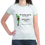 Cthulhu's Bar and Grill Jr. Ringer T-Shirt