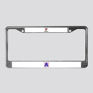 My Heart Friends, Family, Midd License Plate Frame