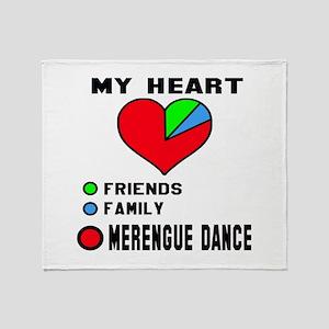 My Heart Friends, Family, Merengue d Throw Blanket