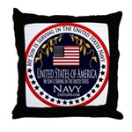 Navy Son Throw Pillow